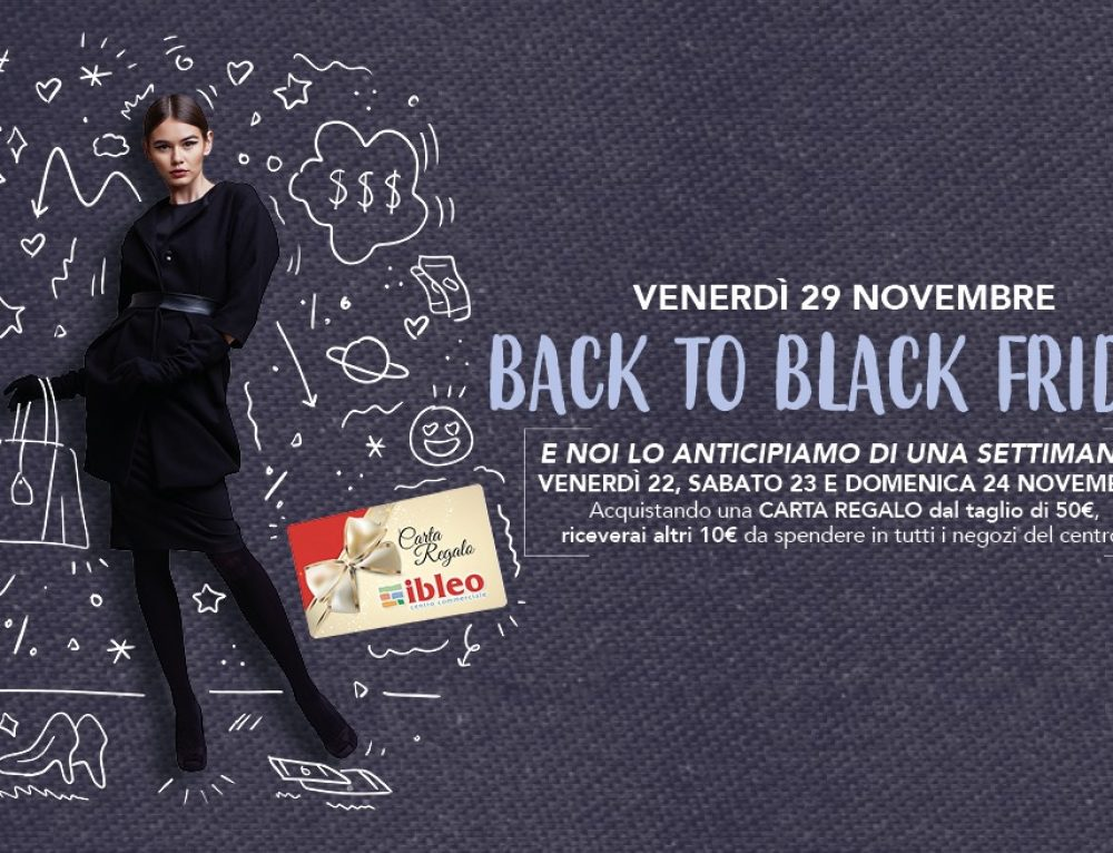 E' l'ora del Black Friday al Centro Ibleo!