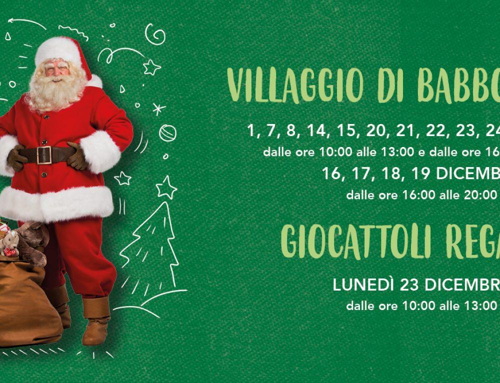 Villaggio Babbo Natale e Giocattoli in Regalo!